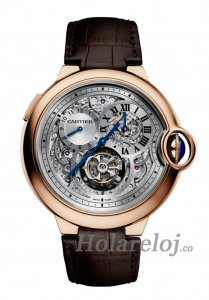 Cartier Ballon Bleu Flying Tourbillon Second Time Zone 18 kt Oro rosa W6920045