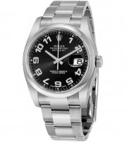 Replicas Rolex Datejust 36 Negro Concentric Circle Dial Acero inoxidable Oyster 116200BKCAO