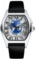 Cartier Tortue Multiple Zonas horarias W1580050 Blanco Oro reloj