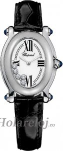 Chopard Happy Sport Oval 5 Floating Diamonds Senoras Replica de reloj 277465-1005