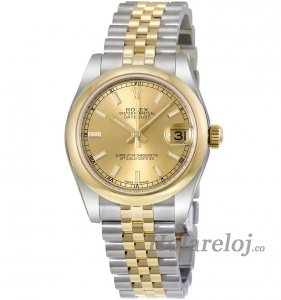 Replicas Rolex Datejust Champagne Dial Automatic Acero inoxidable and 18kt oro 178243CSJ