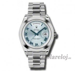 Rolex Day-Date II Ice Azul Dial Platinum President 218206IBLRP