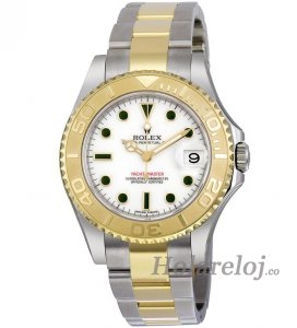 Rolex Yachtmaster Blanco Dial Oyster Two Tone 168623WSO