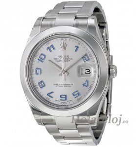 Replicas Rolex Datejust II Rhodium Dial Acero inoxidable 116300RBLAO