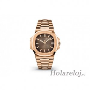 Patek Philippe Nautilus Marron Dial 18K Rose Gold Automatic 5711/1R-001