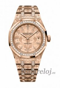 Audemars Piguet Royal Oak Rosa oro Diamant Reloj