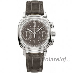Patek Philippe Complications Pale Gray Dial Pale Gray Cuero Senoras 7071G-010
