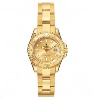 Rolex Yachtmaster Champagne Dial Oyster 18k Oro amarillo mujeres 169628-CSO