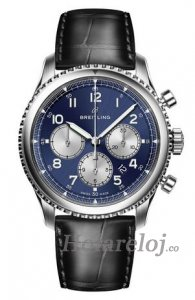 Breitling Navitimer 8 B01 and Leather Strap Reloj