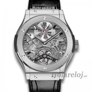 Hublot Classic Fusion Ultra-Thin Skeleton Tourbillon Platinum 505.TX.0170.LR Replica Reloj