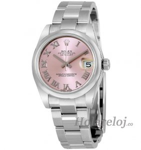 Replicas Rolex Datejust Lady 31 Pink Dial Acero inoxidable Rolex Oyster Automatic 178240PRO
