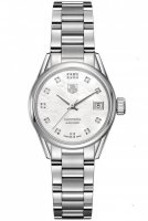TAG Heuer Carrera 28mm Blanco Diamante Marcar WAR2414.BA0776 Reloj