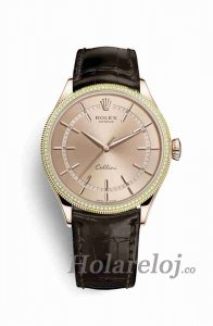 Rolex Cellini Time Everose oro 50605RBR Marcar Reloj
