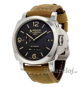 Replicas Panerai Luminor 1950 10 Days GMT Dial Negro PAM00533