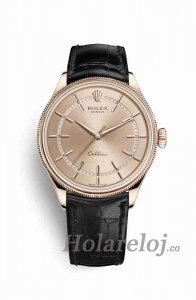 Rolex Cellini Time Everose oro 50505 Marcar Reloj
