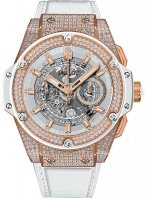 Hublot King Power Unico King oro blanco Pave 48mm 701.OE.0128.GR.1704