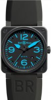 Bell & Ross Aviation 42MM Men reloj BR 03-92 Carbon Azul