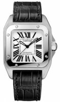 Cartier Santos 100 Stainless acero Medium reloj W20106X8