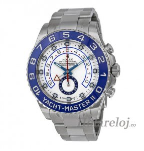 Rolex Yacht-Master II Blanco Dial Inoxidable Acero Oyster 116680