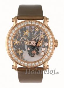 Chopard Superb damas Happy Sport Diamante And Gem-set Panda Reloj 137707-5003
