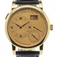 A Lange and Sohne 112.021 Lange 1 A guilloche gold dial