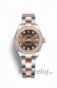 Rolex Datejust 28 279381RBR Chocolate Diamant Marcar Reloj