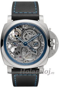 Panerai Lo Scienziato Luminor 1950 Tourbillon GMT Titanio 47 PAM00767 Reloj