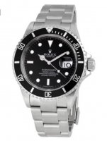 Rolex Submariner Negro Index Dial Oyster Inoxidable Acero 16610-BKSO