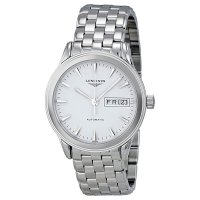 Longines Flagship Automatico Day Date Stainless Steel hombre reloj L4.799.4.12.6