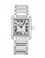 Cartier Tank Francaise Diamonds 18k White Gold mujer WE100251