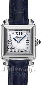 Chopard Happy Sport Classic Square 7 Floating Diamonds Senoras Replica de reloj 278325-3006
