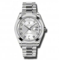 Rolex Day-Date II Plata Dial Platinum President 218206SDP