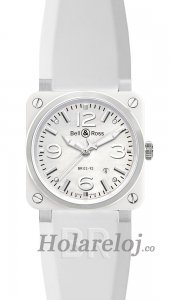 Bell & Ross Aviation BR 03-92 Blanco Ceramic reloj