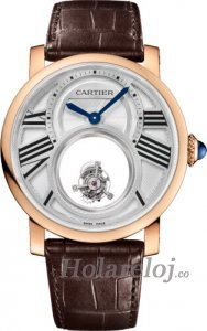 Rotonde de Cartier Mysterious Double Tourbillon Replica reloj W1556230
