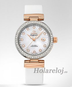 Omega De Ville mujermatic Rose Gold Steel Case Diamante Reloj 425.27.34.20.55.001