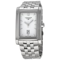Longines DolceVita blanco Dial acero inoxidable pulsera damas re