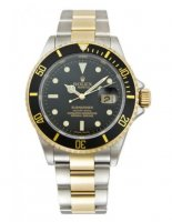 Rolex Submariner Negro Index Dial Oyster Two Tone 16613BK
