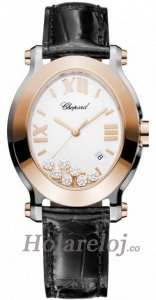 Chopard Happy Sport Oval Cuarzo Senoras Replica de reloj 278546-6001